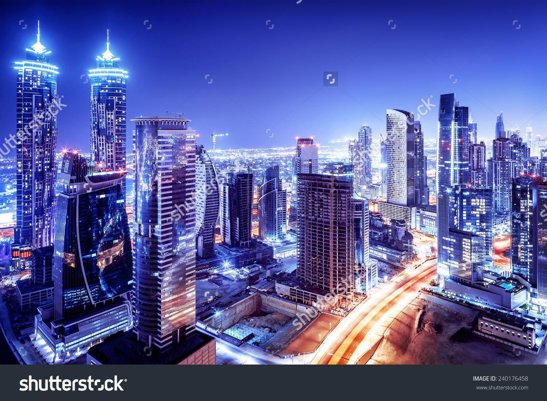 Dubai By Night Clipart Clipground
