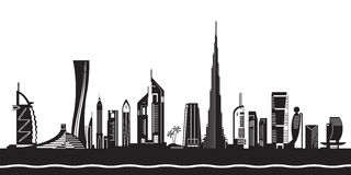 Dubai Infrastructure Stock Illustrations.