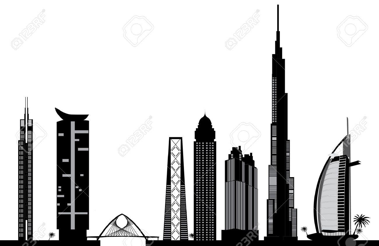 Dubai skyline clipart free.