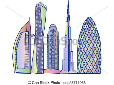 Dubai skyline Clip Art and Stock Illustrations. 651 Dubai skyline.