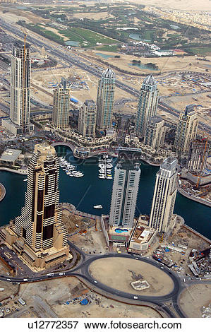 Picture of dubai, aerial, dubai, marina, damac, boat, ship.