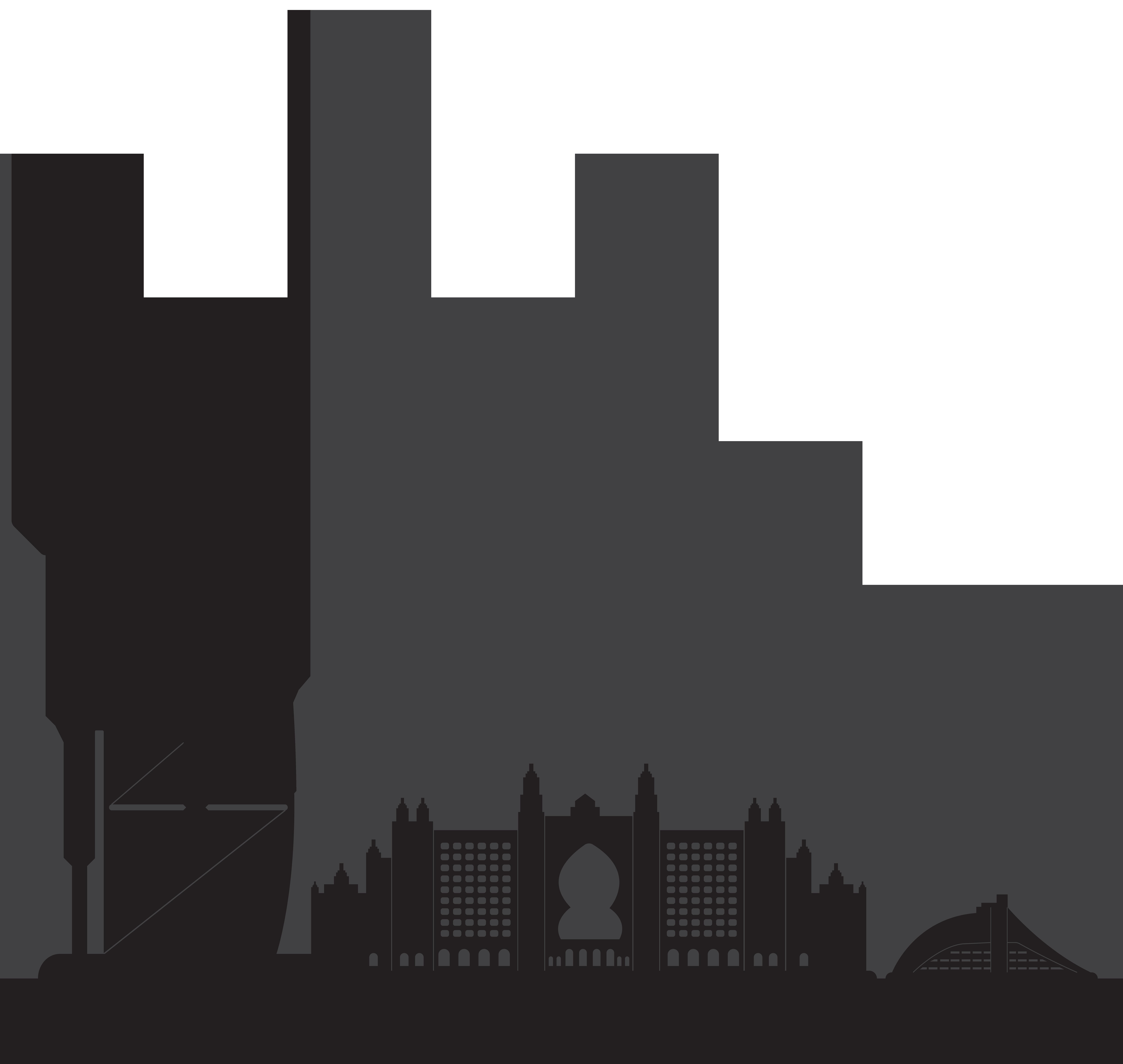 Dubai Skyline Silhouette Clip art.