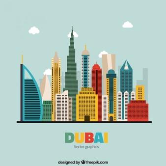 Dubai Skyline Vectors, Photos and PSD files.