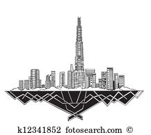 Dubai skyline Clipart and Illustration. 579 dubai skyline clip art.