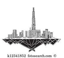 Dubai skyline Clipart and Illustration. 579 dubai skyline clip art.
