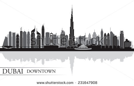 Dubai skyline silhouette vector free free vector download (5,201.
