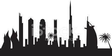 Dubai Skyline stock vectors.
