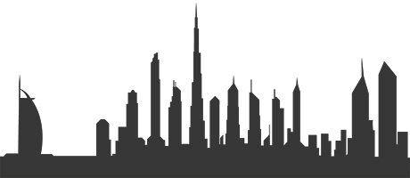Spot the city skyline.