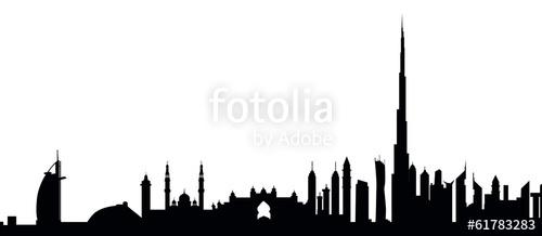 Dubai Skyline Clipart.