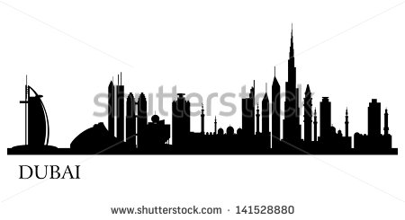 Dubai Skyline Stock Images, Royalty.
