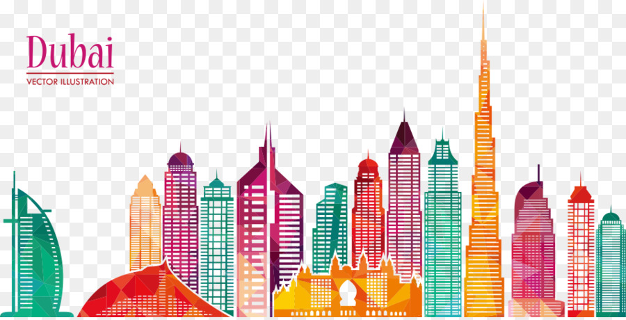 Dubai Skyline Vector at GetDrawings.com.