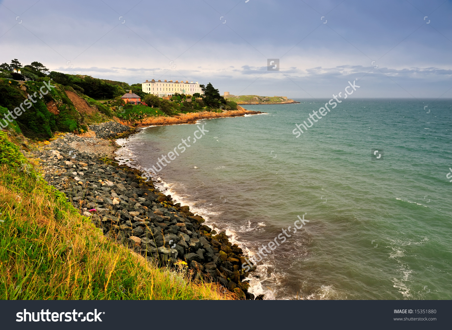 Rocky Shore Near Dalkey Dublin Bay Stock Photo 15351880.