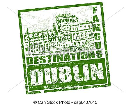 Clipart Vector of Dublin stamp.