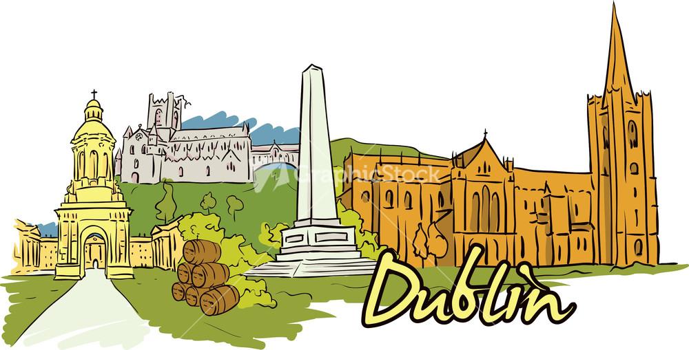 Dublin Vector Doodle.