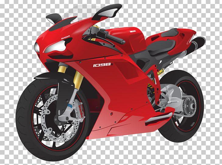 Ducati 1098 Motorcycle Sport Bike Ducati Superbike PNG.