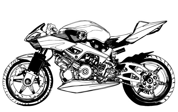 Motorcycle Vector.