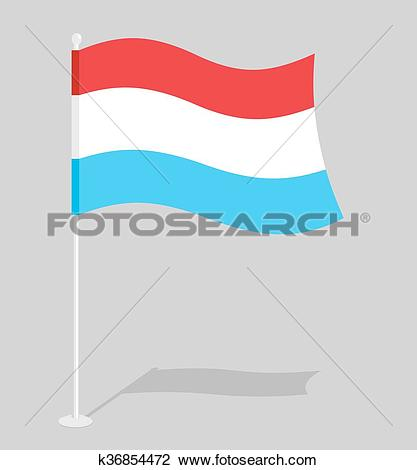Clipart of Luxembourg flag. Official national sign of Grand Duchy.