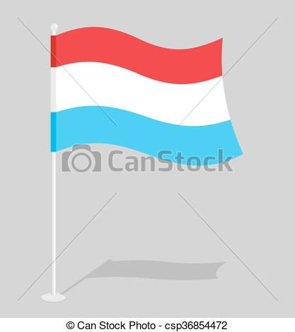 Vectors Illustration of Luxembourg flag. Official national sign of.