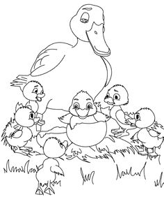 The Ugly Duckling Clipart.