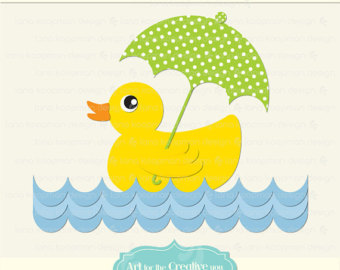 Rubber Duck Baby Clipart.