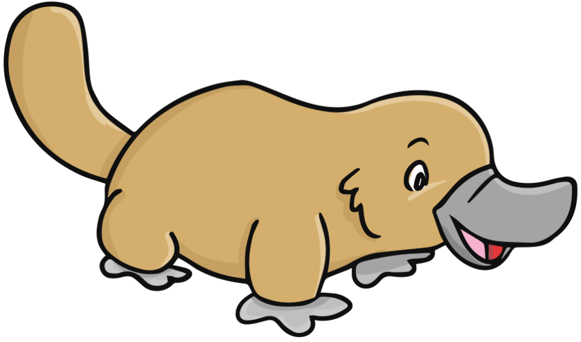 Duck billed platypus clipart.