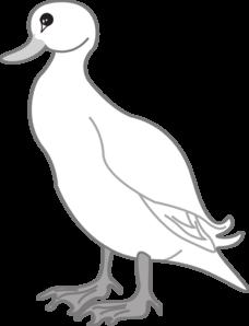 White Digital Art Duck Clip Art at Clker.com.