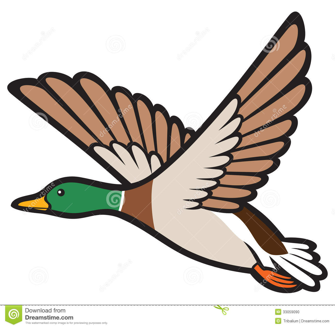 Flying duck clip art.