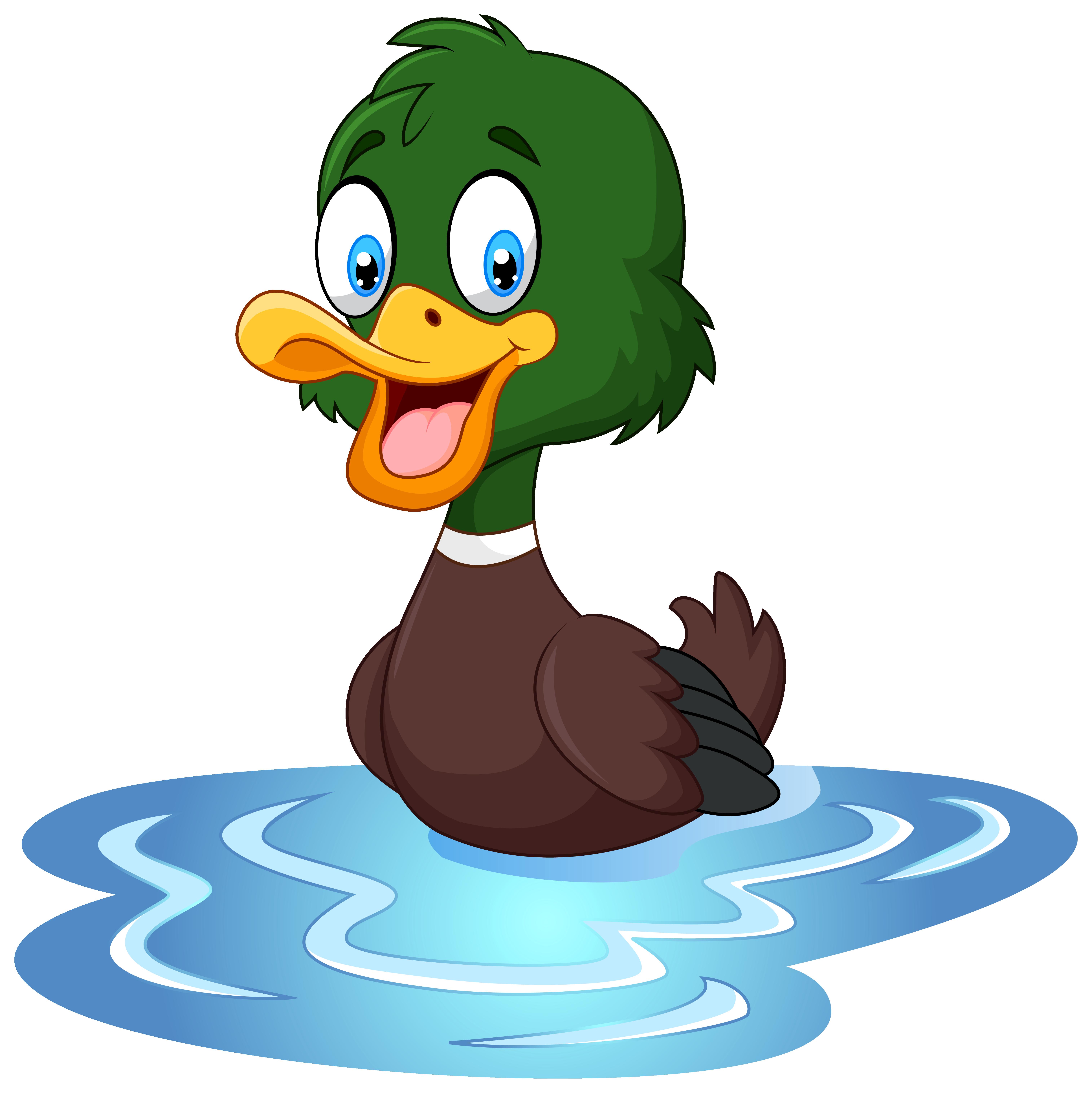 Duck clip art image.