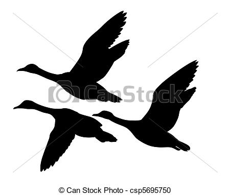 Flying Duck Clipart.