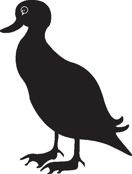Black Duck Silhouette Clip Art at Clker.com.