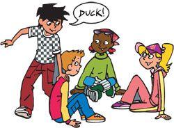 Duck duck goose game.