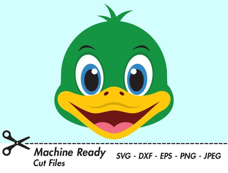 Cute Duck SVG Cut Files, mallard duck clipart, bird clip art, farmhouse,  farm, barn animals, spring duckling, printable duck face, duck head.