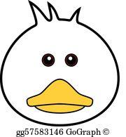 Duck Face Clip Art.