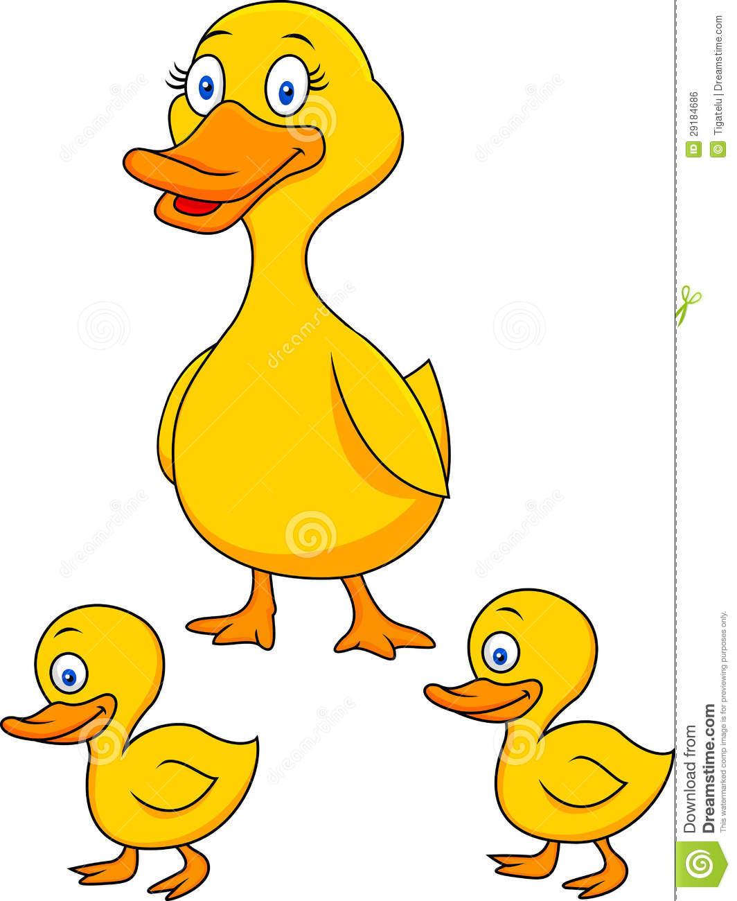 Ducks Animated Winter Clipart.