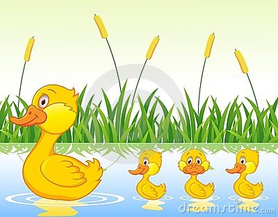 Duck family clipart.