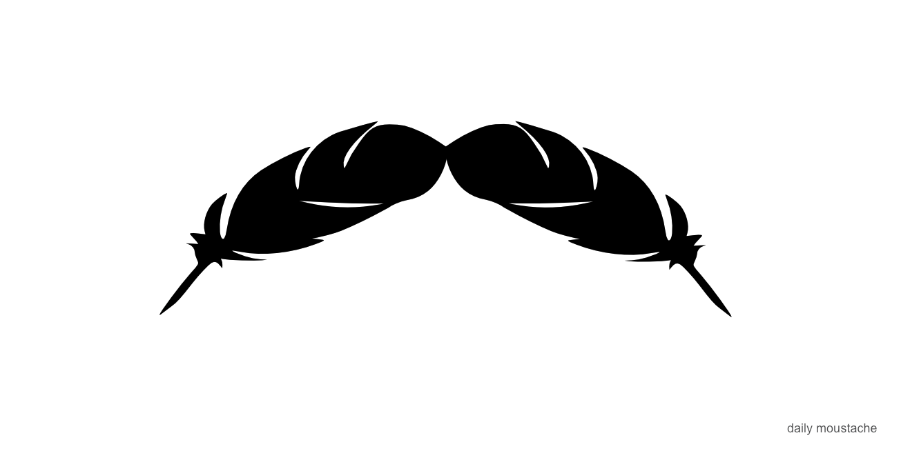dailymoustache: 153. A feather in your 'stache.