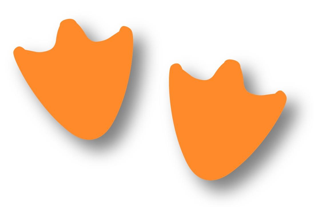 Duck Foot Clipart.