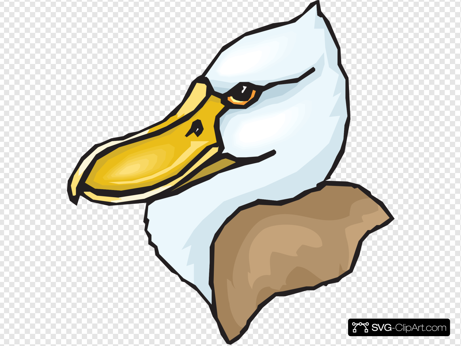 Big Beaked Duck Head Clip art, Icon and SVG.