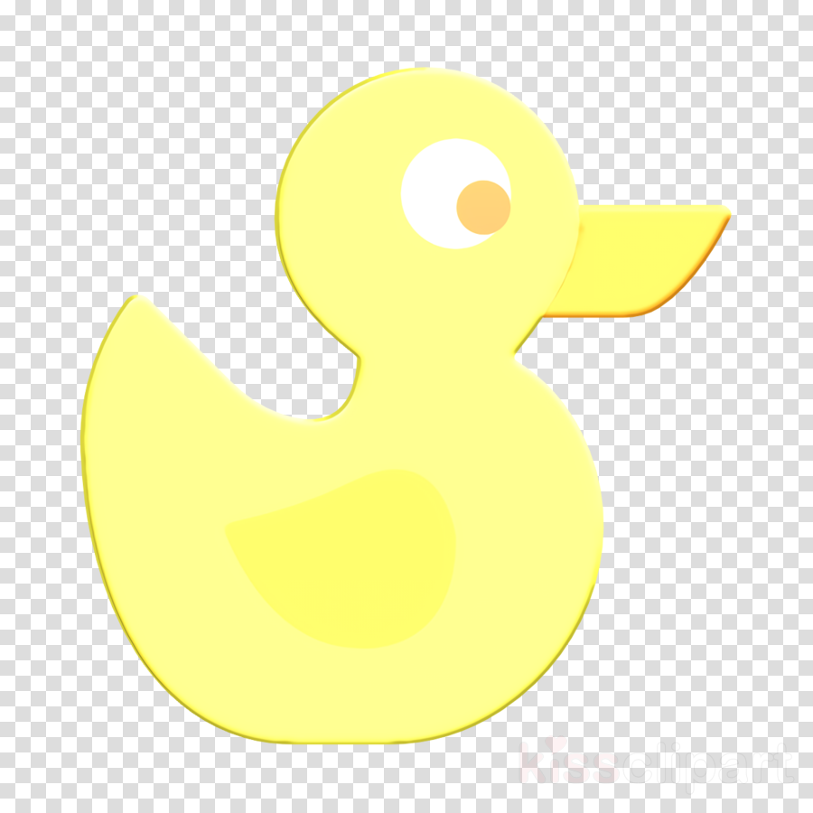 Duckling icon Baby icon Duck icon clipart.
