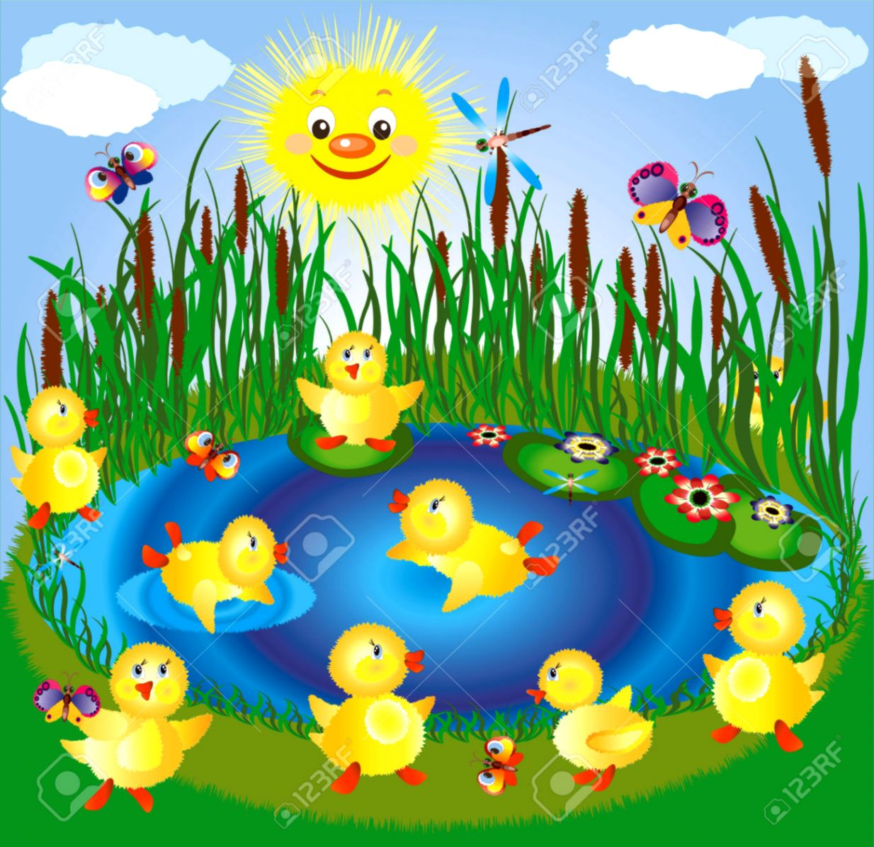 Duck Pond Clipart.