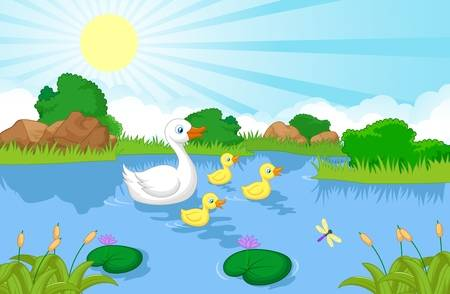 1,363 Duck Pond Stock Illustrations, Cliparts And Royalty Free Duck.