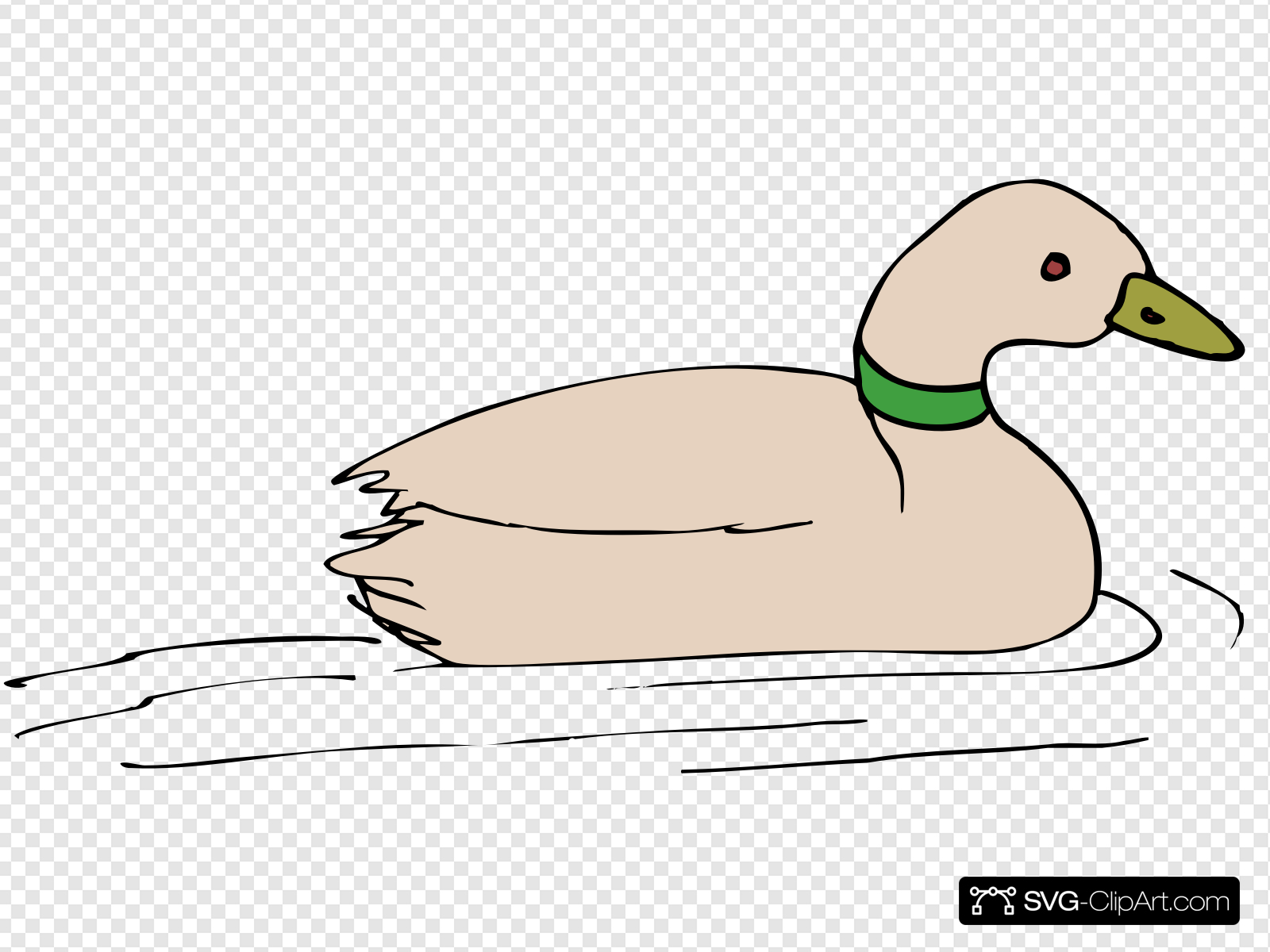 Duck In Water Clip art, Icon and SVG.