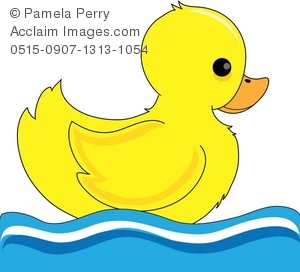 duck in the pond clipart #7