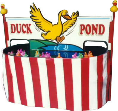 Duck pond game clipart.