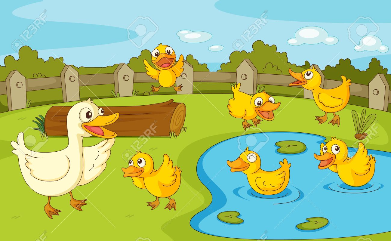 Clipart duck pond.