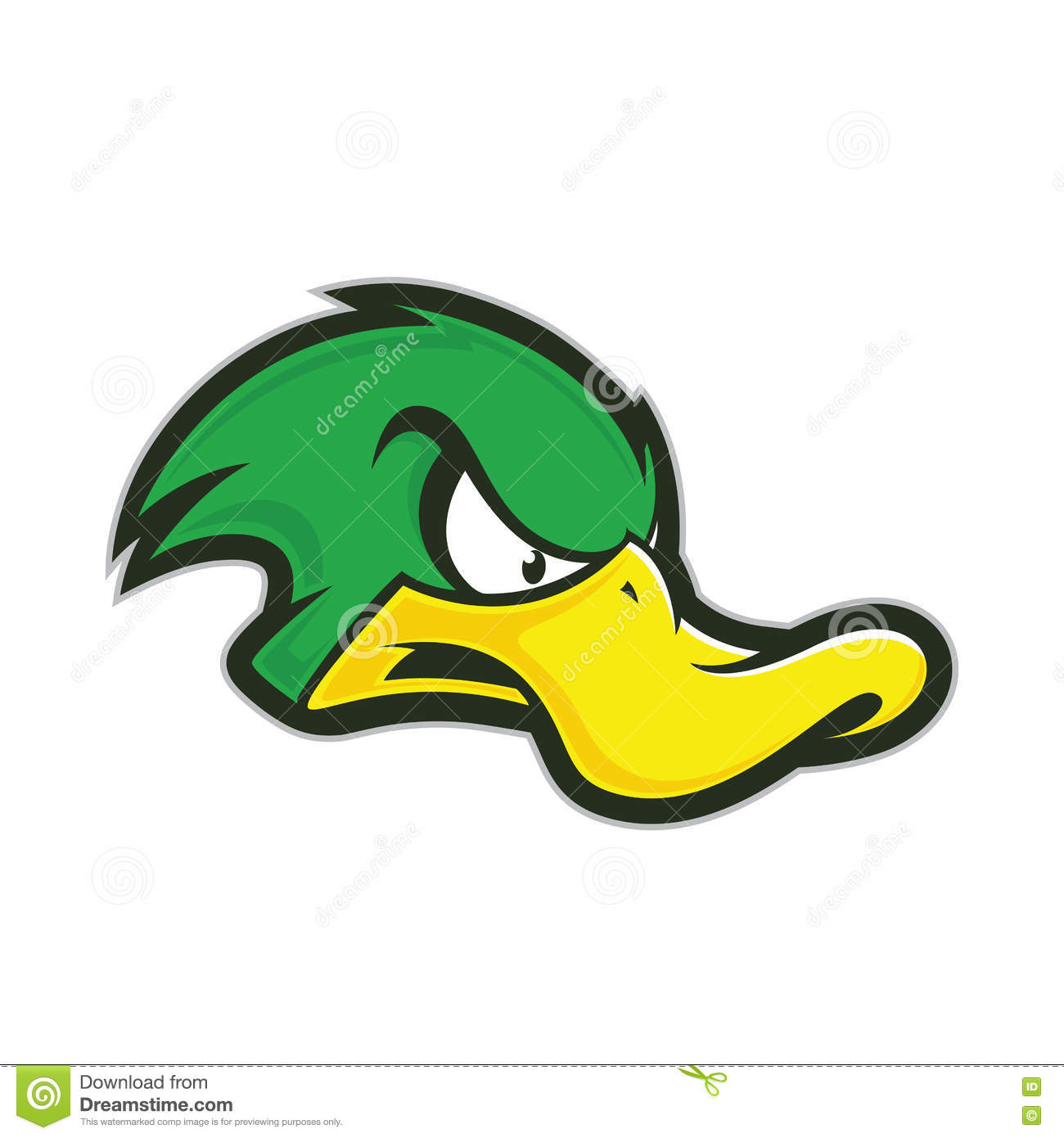 Angry duck mascot stock vector. Illustration of college.