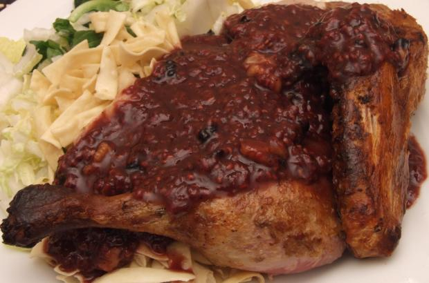 Roasted Duckling In Raspberry Sauce Recipe.