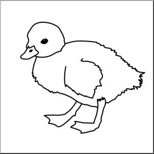 Clip Art: Duckling B&W I abcteach.com.