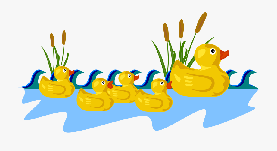 Rubber Duck Family Clipart By Gerald G.