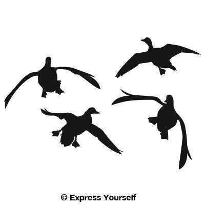 Jukin' Four Ducks Decal.